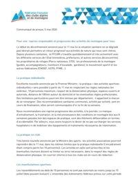 CP FFCAM - reprise des activités 11 mai 2020